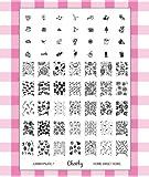 """2013 neue Kollektion von Stamping Nail Art Jumbo Schablone 7 """"Home Sweet Home"""", von Cheeky."""