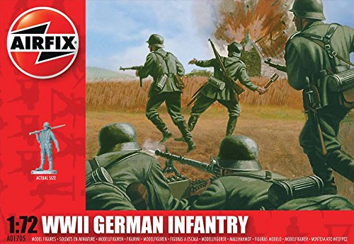 Airfix A01705 1:72 Scale WWII German Infantry Figures Classic Kit Series 1