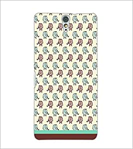 PrintDhaba Elephant pattern D-1608 Back Case Cover for SONY XPERIA C5 ULTRA (Multi-Coloured)