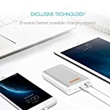 Slim Power Bank by ULCANIX 10000 mAh-Quick Charge 2.0 Dual USB Portable Charger - 2X Faster - Incredible Smart External Battery Compatible with iPhone, Samsung Galaxy, HTC, Smartphones & Tablets