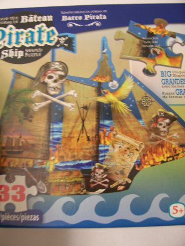 Shaped Puzzle ~ Pirate Ship (33 Pieces) - 1