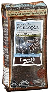 Larry's Beans Fair Trade Organic Coffee, Mama Nile Ethiopia, Whole Bean, 12-Ounce Bags (Pack of 3) by Larry's Beans