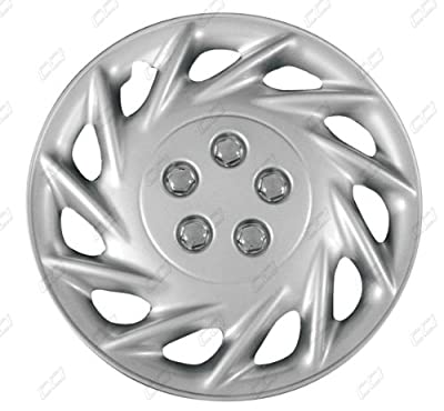 CCI IWC118-15S 15 Inch Clip On Silver Finish Hubcaps - Pack of 4