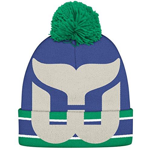 hartford-whalers-ccm-nhl-split-logo-cuffed-knit-hat-cappello-with-pom