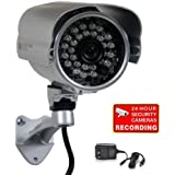"""VideoSecu 700TVL Bullet Security Camera Built-in 1/3"""" SONY Effio CCD Weatherproof Day Night 3.6mm Wide View Angle Lens IR Outdoor CCTV Surveillance Camera for DVR Home Surveillance System with Bonus Power Supply IR45HE WM5"""
