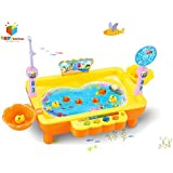 Toys Bhoomi 2 In 1 Colorful Magnetic Fishing Game Toy With The Music & Light For Kids Boys And Girls - Learn To...