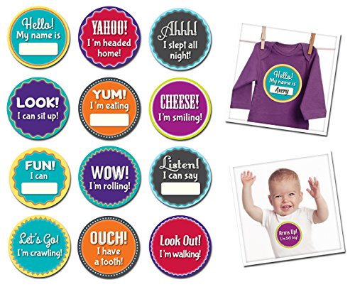 Sticky Bellies Baby Month Stickers - Milestone Momentos
