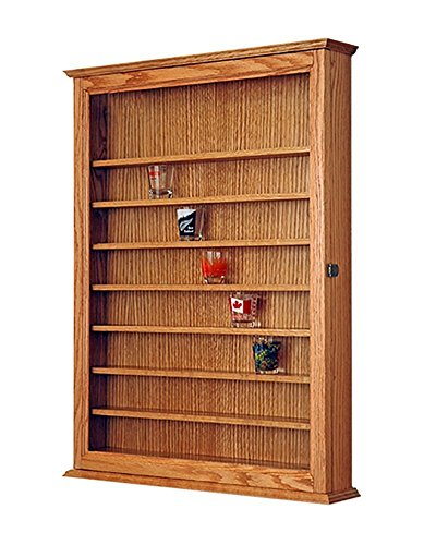 Shot Glass Display Case Made Out Of Solid Oak (Shot Glass Display Case 72 compare prices)