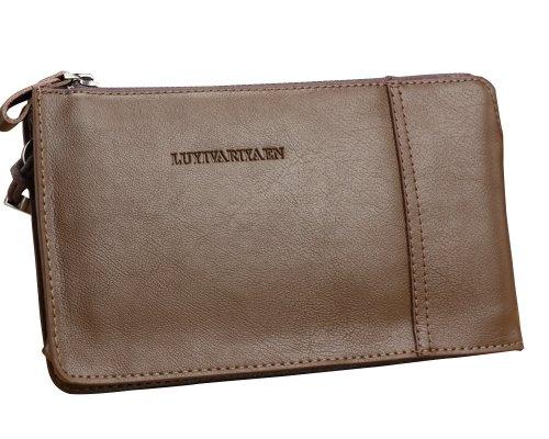 Men's Elegant Premium Leather Business Daily Clutch Brief Zip Purse