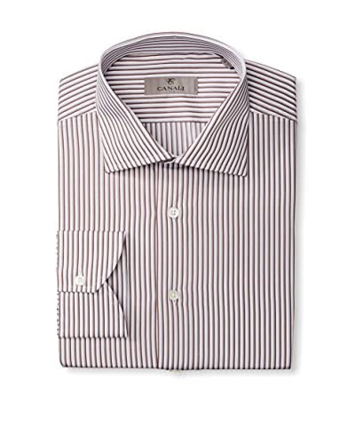 Canali Men's Stripe Dress Shirt