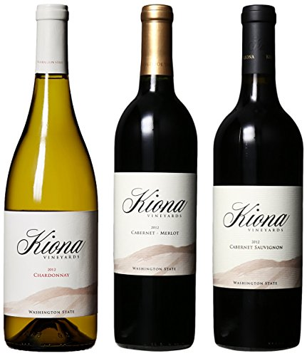 Kiona Vineyards And Winery Washington State Top Varietals Reds And White Mixed Pack, 3 X 750 Ml