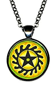 Adinkra Sesa Wo Suban for Life Transformation Gunmetal Pendant|Amazon