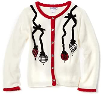 Hartstrings Big Girls' Big Ornament Cardigan Sweater, Soft Vanilla, 14-16