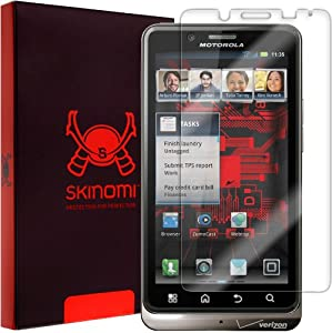 Skinomi® TechSkin - Motorola Droid Bionic Screen Protector Premium HD Clear Film with Lifetime Replacement Warranty / Ultra High Definition Invisible and Anti-Bubble Crystal Shield - Retail Packaging