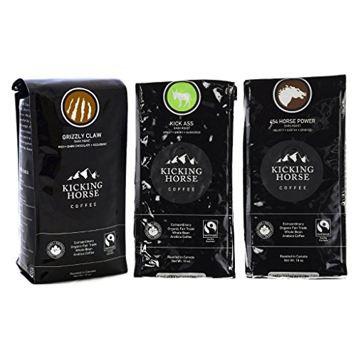 Kicking Horse Coffee Whole Bean Variety Pack (Pack of 3 Flavors) (Kicking Horse Whole Bean Coffee compare prices)