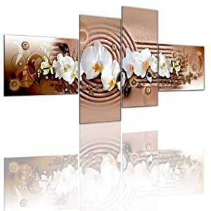 bild auf leinwand 4 teilig blumen wandbilder 051459 100x45 cm riesen bilder. Black Bedroom Furniture Sets. Home Design Ideas