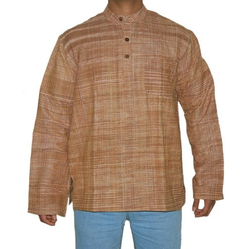 Marvelous Look Hand Made Striped Khadi Men's Kurta Fabric for Winter & Summers