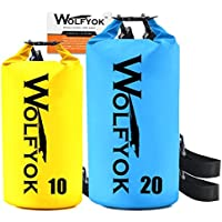 Wolfyok 20L / 10L Roll Top Waterproof Floating Duffle Dry Gear Bag