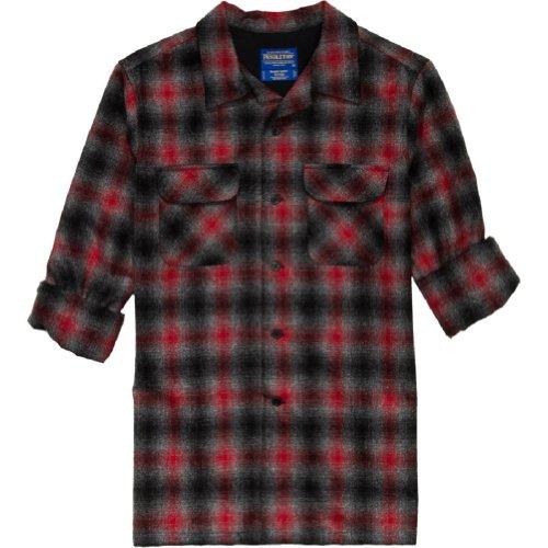 Pendleton Original Board Shirt 100/% Umatilla Virgin Wool Classic Fit Tan Mix Red