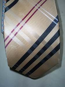 Camel Check Men's Tie Burberry Silk Nova Check Plaid
