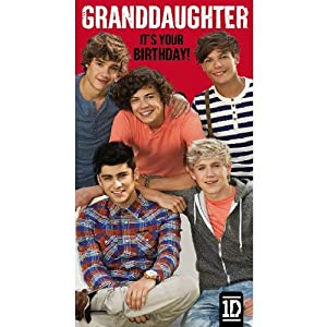 Is It Art One Direction Granddaughter Birthday Card by Is It Art