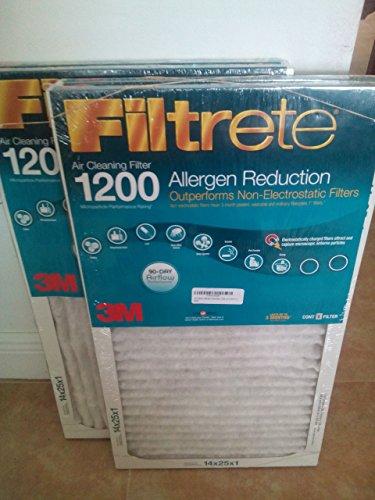 3m Filtrete Allergen Reduction 1200 (14 X 25 X 1) 2 Pack (3m Filtrete 14 X 25 X 1 compare prices)