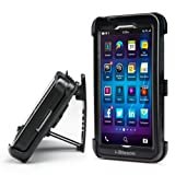 i-Blason ArmorBox Series For Blackberry Z10 Dual Layer Holster Case Cover with Kick Stand and Locking Belt Swivel Clip (Black )