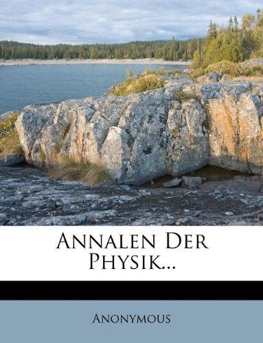 Annalen Der Physik...