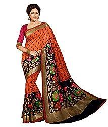 Reveka Multicolor Bhagalpuri Silk Saree With Blouse
