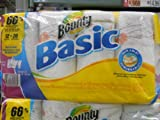 Bounty Basic Print Select Size 12 Rolls 129 Sheets