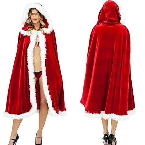 Hisionlee Hot Sexy Halloween Christmas Party Costumes Little Red Riding Hood Cloak