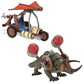 Fire Attack Rhino and Air Attack Battle Glider - Avatar The last Airbender Set
