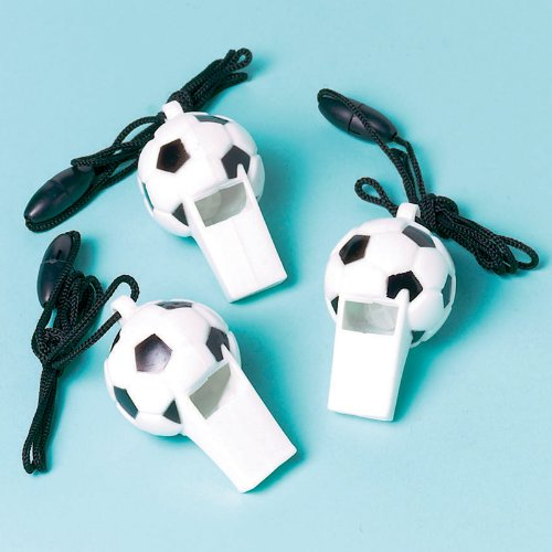 Soccer Whistles (12 count) Party Accessory