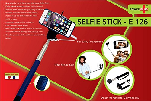 Inventis CrackDeals Universal Selfie Stick Self Shooting Monopod with Bluetooth Remote Shutter & Smart Phone Holder for Apple iPhone 6 6+ Plus 5S 5 4S 4 Samsung Galaxy Android Nokia Lumia OnePlus One HTC Micromax LG Xiaomi Redmi MI Sony Motorola Moto Google Nexus All Bluetooth Mobiles - Black