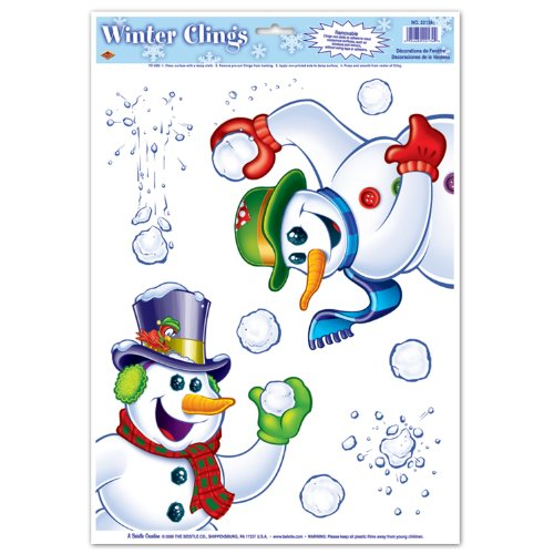 Snowman Clings (6 snowballs included) Party Accessory  (1 count) (2/Sh) - 1