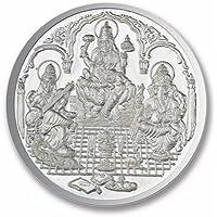 Ananth BIS Hallmarked 999 Silver Purity Coin Ganesha + Lakshmi + Saraswati 10 grams