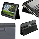 "IGadgitz Black 'Portfolio' PU Leather Case Cover for Asus Eee Pad Transformer TF101 TF101G 10.1"" 3.0 Android Tablet"