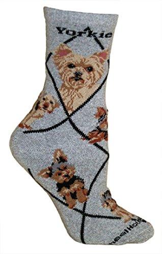 Yorkshire Terrier Puppy Dog Gray Cotton Ladies Socks