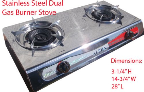 Captivating Portable Propane Gas Stove 2 Double Burner Range BBQ And New Regulator Hose  Best