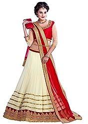 Radadiyatrd Womens Georgette Lehenga Choli (Rednewlehenga01 _Multi-Coloured _Free Size)