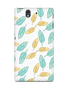 Amez designer printed 3d premium high quality back case cover for Sony Xperia Z (leaves breeze)