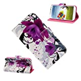 Niceroker Flower Wallet Stand Flip Leather Case Cover For Samsung Galaxy S4 IV i9500