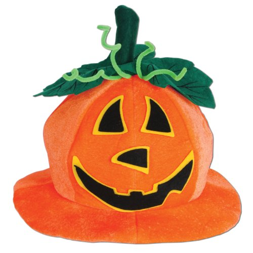 Beistle 00714 Plush Jack-O-Lantern Hat