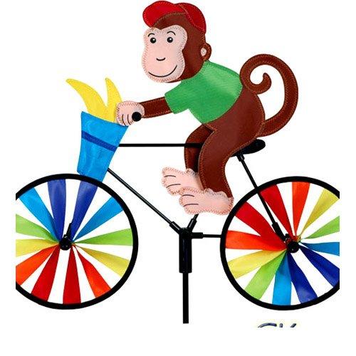 20 in bike spinner monkey home garden decor wind wheels for Wind garden by premier designs