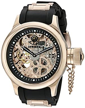 Invicta Men's 1090 Russian Diver Rose Gold-tone Stainless Steel Skeleton