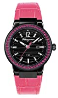 Salvatore Ferragamo Women's F53SBQ68R09 SB22 F-80 Black IP Pink Rubies Watch from Salvatore Ferragamo