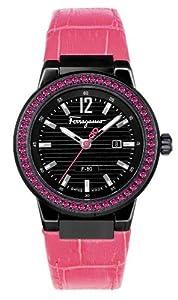 Salvatore Ferragamo Women's F53SBQ68R09 SB22 F-80 Black IP Pink Rubies Watch from Salvatore Ferragamo
