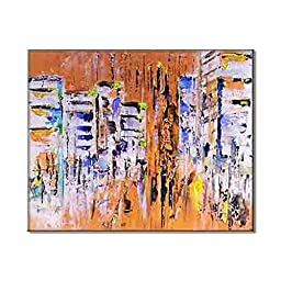 Abstract City Skyline Modern Urban Art HD Painting Pics Trendy Home And Office Decoration