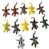 12pcs Juguete De Cocodrilo Modelo Ninos Truco De Plastico De Varios Colores