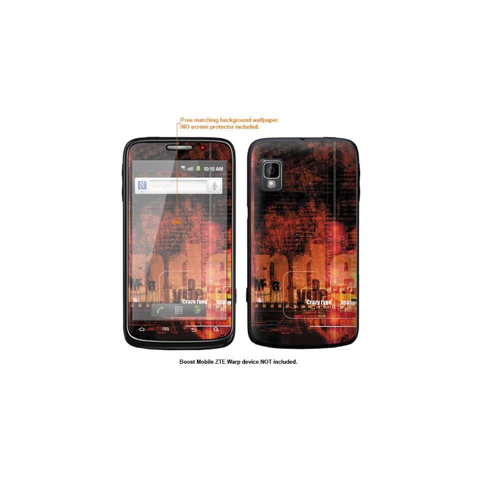 Protective Decal Skin Sticker for ZTE Warp  Boost Mobile version  case cover ZTEwarp 604